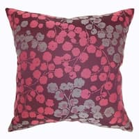 Fleur Bourdeaux Floral Down Filled Throw Pillow