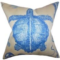 Aeliena Blue Coastal Down Filled Throw Pillow