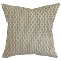 Barberry Geometric Gray Down Filled Throw Pillow