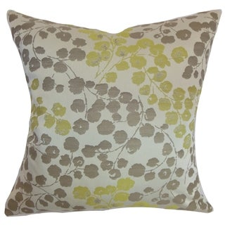 Reynosa Floral Down Fill Throw Pillow Willow