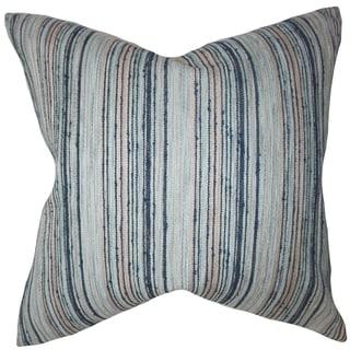 Bartram Stripes Down Fill Throw Pillow Blue