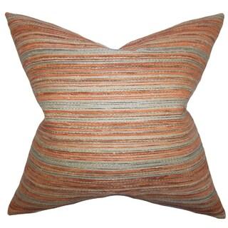 Bartram Stripes Down Fill Throw Pillow Orange