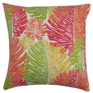 Eilis Floral Down Fill Throw Pillow Green Pink