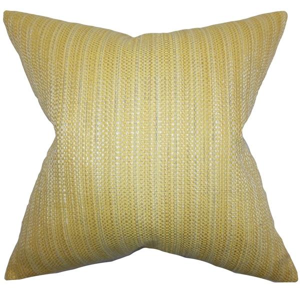 Zebulun Woven Down Fill Throw Pillow Yellow