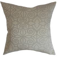 Arum Geometric Down Fill Throw Pillow Mist