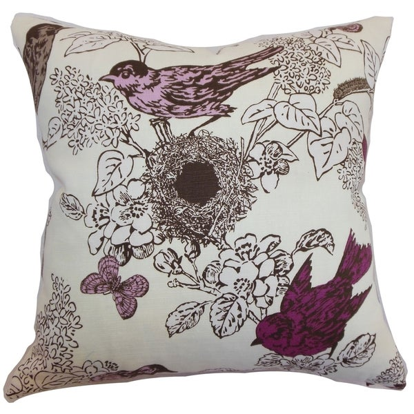 Throw Pillow Lilac : Ouvea Lilac Birds Down Filled Throw Pillow - Free Shipping Today - Overstock.com - 16232840