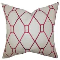 Nevaeh Geometric Down Fill Throw Pillow Red