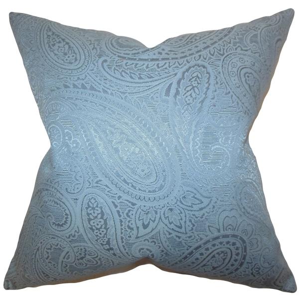 Cashel Paisley Down Fill Throw Pillow Blue