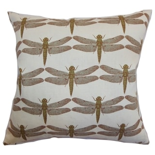 Nkan Aqua Dragonfly Down Filled Throw Pillow