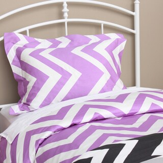 Expressions Chevron 300 Thread Count Cotton Sateen 3-piece Duvet Cover Set
