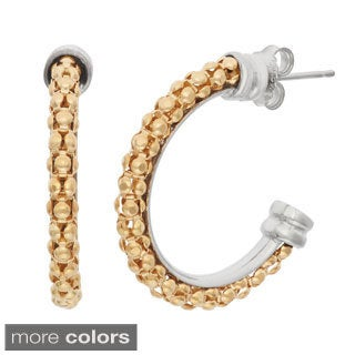Gioelli Sterling Silver Popcorn Hoop Earrings
