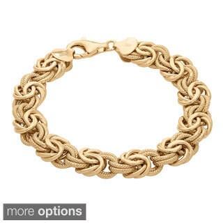 Gioelli Sterling Silver Textured Byzantine Bracelet
