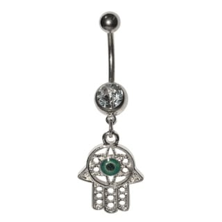 Supreme Jewelry Silver Hamsa Hand Belly Ring