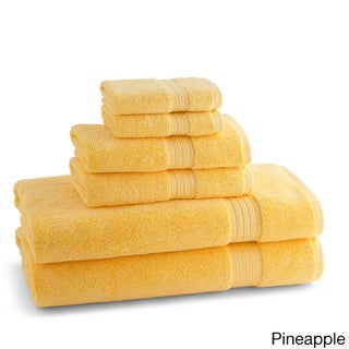 100-Percent Ring Spun Cotton Brights Collection 6-piece Towel Set (Option: Pineapple)