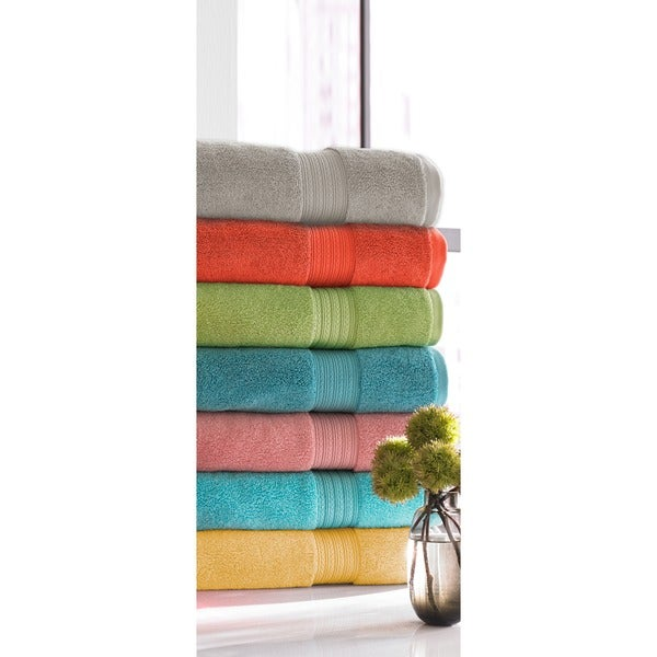100 Percent Ring Spun Cotton Brights Collection 6 Piece Towel Set