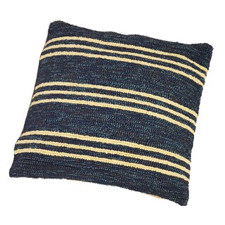 """South Beach Indoor/Outdoor Blue Stripes 16"""" Pillow"""