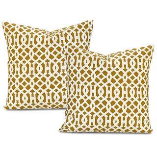 Exclusive Fabrics Nairobi Desert Cotton Pillow Covers (Set of 2)