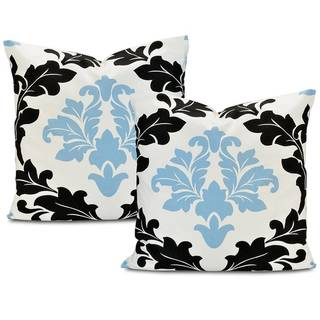 Exclusive Fabrics Deauville Printed Cotton Cushion Cover (Set of 2)
