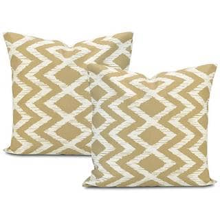 Exclusive Fabrics Palu Printed Cotton Throw Pillow Cover (Set of 2)