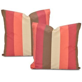 Exclusive Fabrics Picante Stripe Cotton Pillow Cover (Set of 2)