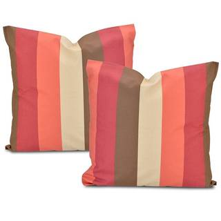 Exclusive Fabrics Picante Stripe Cotton Throw Pillow Cover (Set of 2)