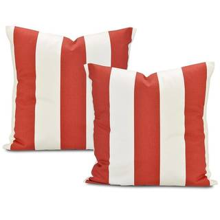 Exclusive Fabrics Cabana Spice Stripe Cotton Pillow Cover (Set of 2)