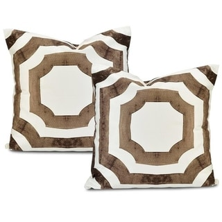 Exclusive Fabrics Mecca Printed Cotton Cushion Cover (Set of 2)