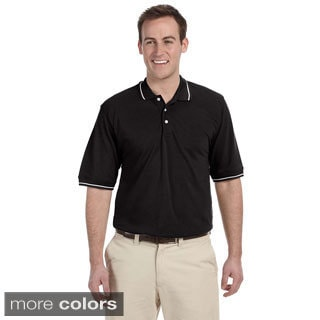 Men's Pique Contrast Tipped Easy Blend Polo Shirt