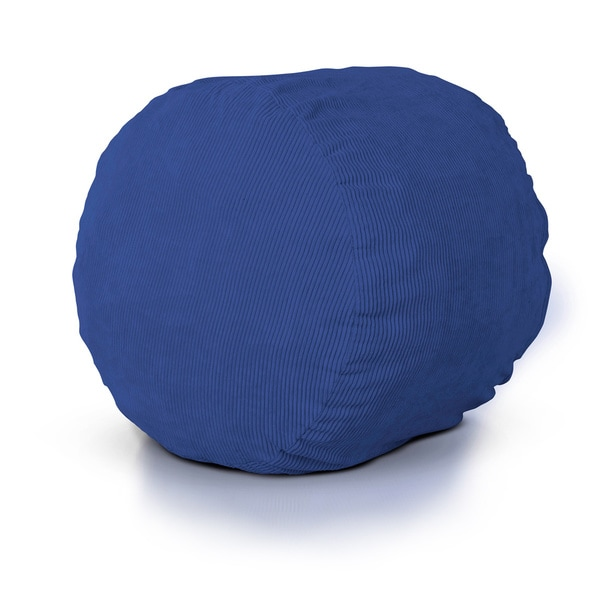 Shop Bright Cobalt Round Foam Lounger Free Shipping