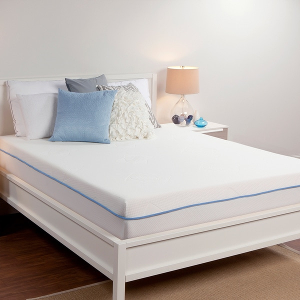 sealy 8 inch queen size memory foam mattress free shipping today 16233141. Black Bedroom Furniture Sets. Home Design Ideas