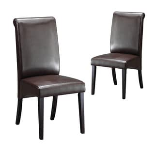 Warehouse Of Tiffany Jasmine Cappuccino Dining Chairs