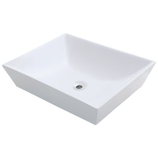 Polaris Sinks P073VW  White Porcelain Vessel Sink