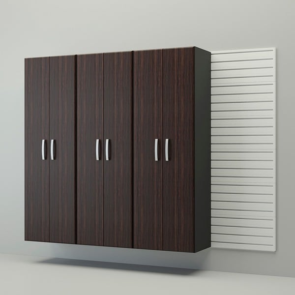 Flow Wall 4-piece Tall Cabinet Set