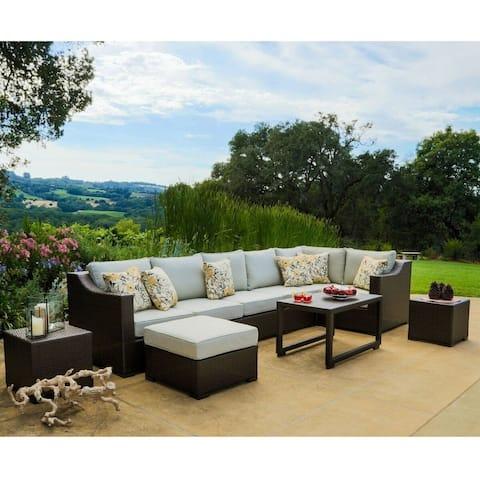 Matura 10-piece Dark Brown Wicker Patio Furniture Set by Corvus
