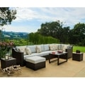 Corvus Matura Outdoor 10-piece Brown Wicker Sectional Sofa Set