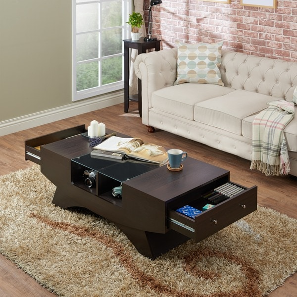 Furniture Of America Angelic 2 Drawer Contemporary Coffee Table   Free  Shipping Today   Overstock.com   16233207 Part 67