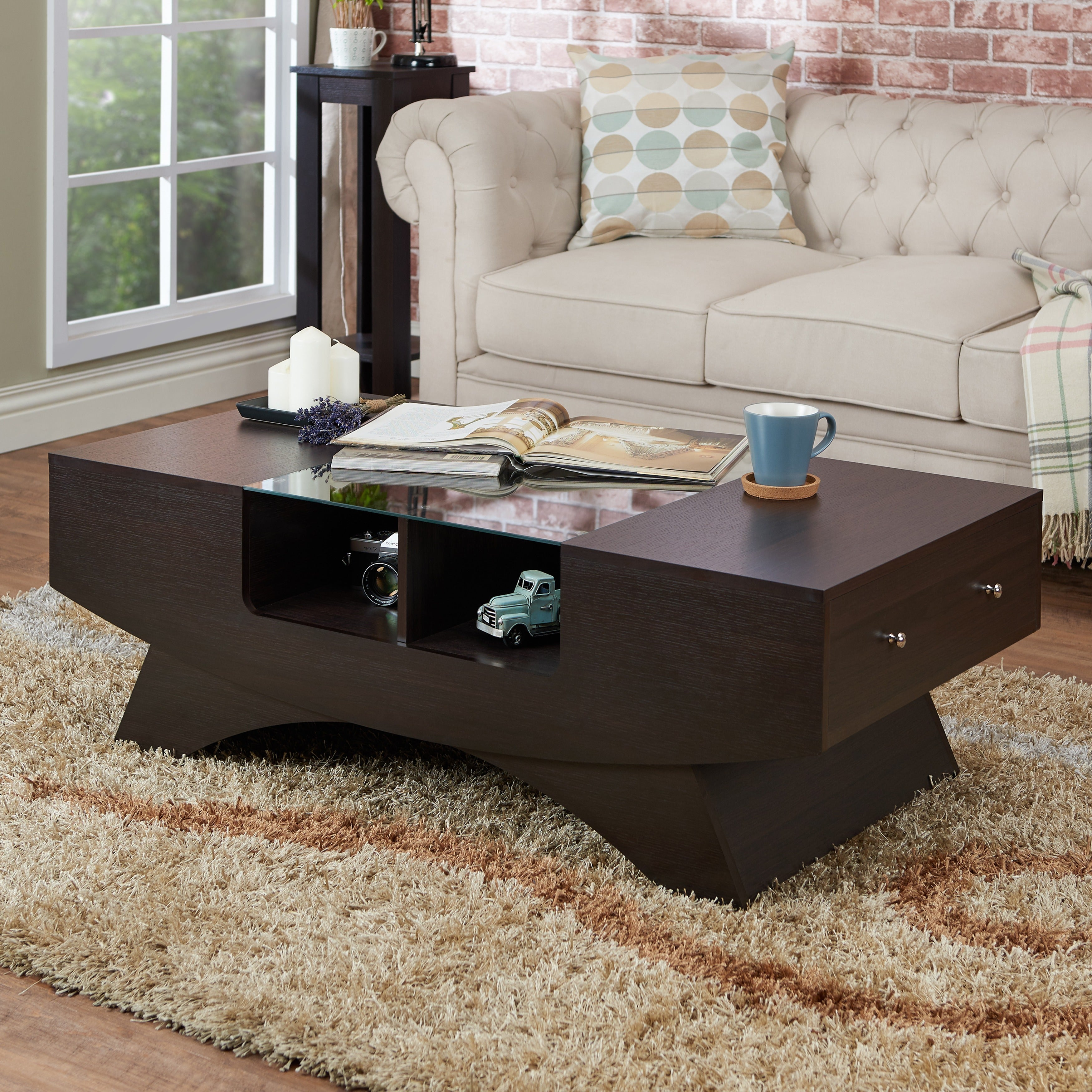 chrome coasters with legs drawers coffee table storage coaster contemporary for