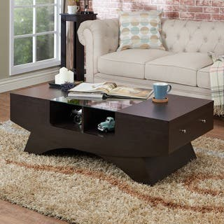 Furniture of America Angelic 2 drawer Contemporary Coffee Table Tables For Less  Overstock com