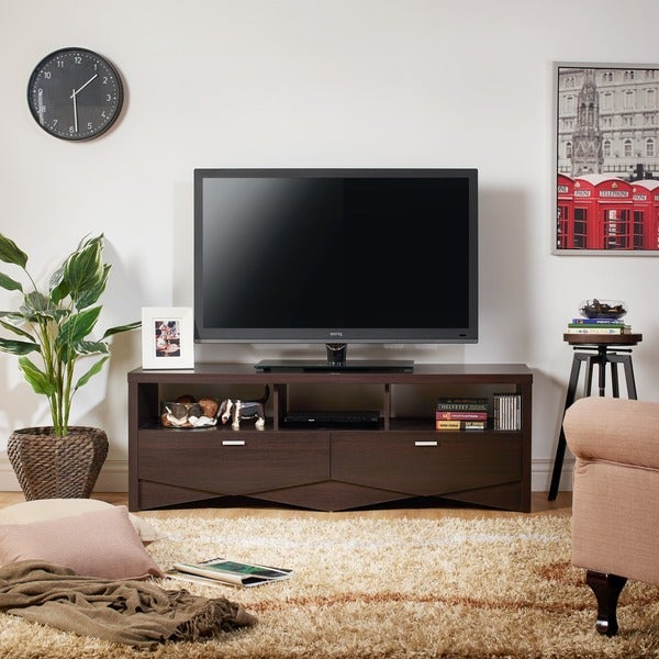 Furniture Of America 59 Inch Espresso TV Stand   Free Shipping Today    Overstock.com   16233208