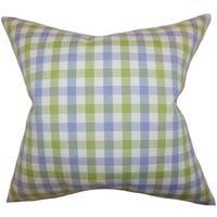 Manteo Plaid Blue Green Down Filled Throw Pillow