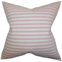 Greer Stripes Red Down Filled Throw Pillow