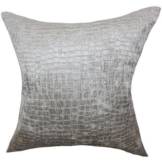 Jensine Solid Silver Down Filled Throw Pillow