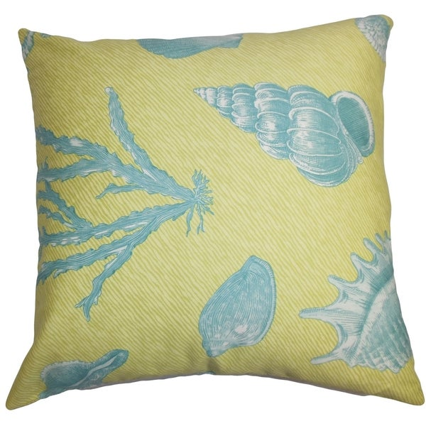 Blue Down Throw Pillows : Sada Coastal Green Blue Down Filled Throw Pillow - Free Shipping Today - Overstock.com - 16233939