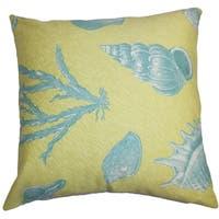 Sada Coastal Green Blue Down Filled Throw Pillow