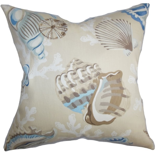 Coastal Color Throw Pillows : Tait Coastal Blue Natural Down Filled Throw Pillow - Free Shipping Today - Overstock.com - 16233945