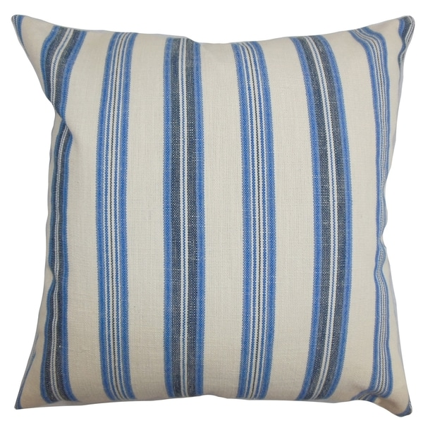 Omer Stripe Blue Down Filled Throw Pillow - Free Shipping Today - Overstock.com - 16233948