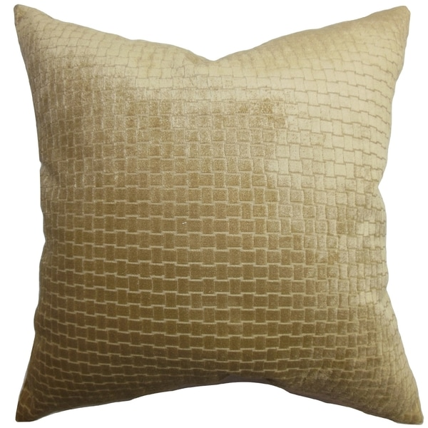 Brielle Solid Brown Down Filled Throw Pillow - Free Shipping Today - Overstock.com - 16233981