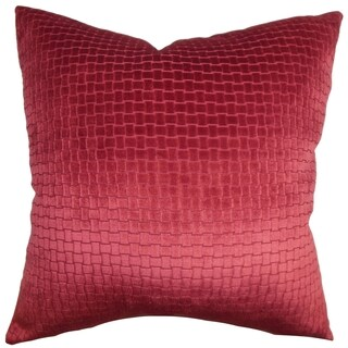 Brielle Solid Red Down Filled Throw Pillow