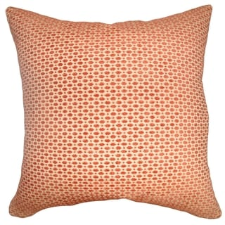 Verdon Net Tangerine Down Filled Throw Pillow
