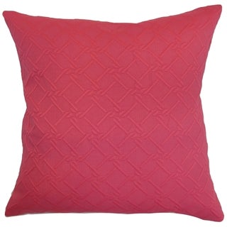 Rafai Plain Pink Down Filled Throw Pillow